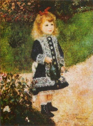 Girl with a Watering-can by Pierre Auguste Renoir