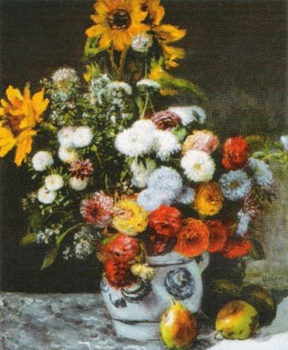 Flowers in a Vase by Pierre Auguste Renoir