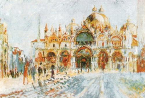Venice - Piazza San Marco by Pierre Auguste Renoir
