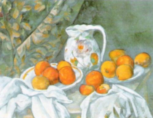 Still Life with Curtain, 1898 by Paul Cezanne