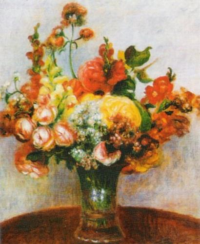 Flowers in a Vase by Pierre Auguste Renoir