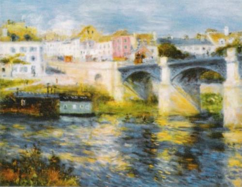 Bridge at Chatou by Pierre Auguste Renoir