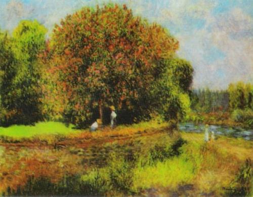 Blooming Chestnut Tree by Pierre Auguste Renoir