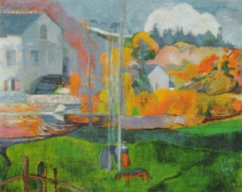 Country Scene in Brittany by Paul Gauguin