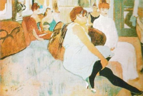 Salon in the Rue des Moulins by Henri de Toulouse-Lautrec