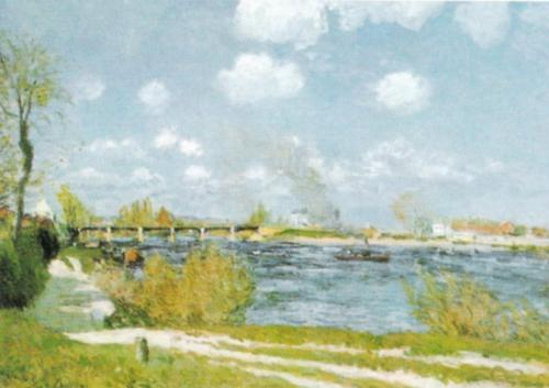 Bougival by Alfred Sisley