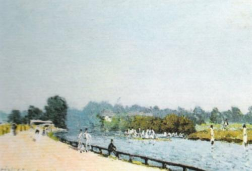 The Road from Hampton Court by Alfred Sisley