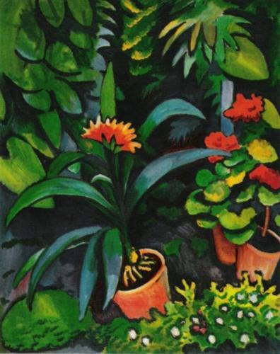 Blumen im Garten by August Macke