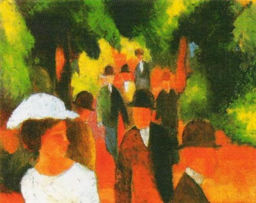 Promenade, 1914 by August Macke
