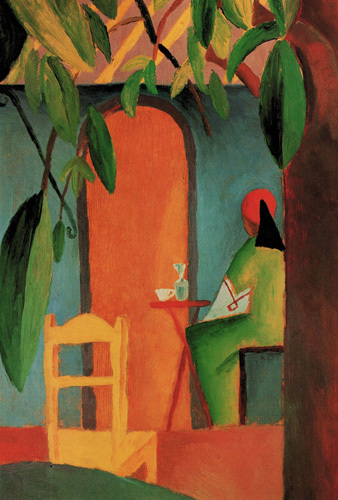 Tuerkisches Café II, 1914 by August Macke