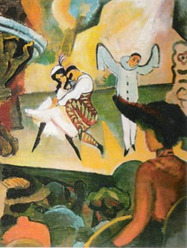 Russisches Ballett I, 1912 by August Macke