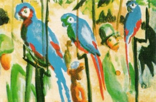 Parrots by August Macke
