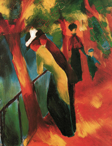 Sunny Road by August Macke