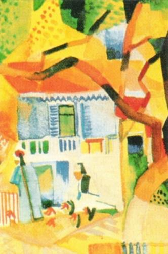 Country-house Courtyard at St. Germaine by August Macke