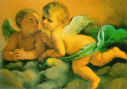 Angels by Guercino (Giovanni Francesco Barbieri)