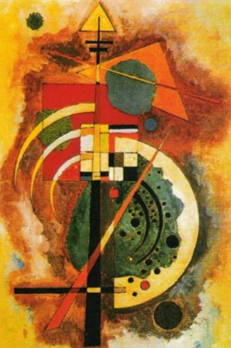 Hommage a Grohamann by Wassily Kandinsky