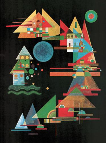 Spitzen und Bogen, 1927 by Wassily Kandinsky