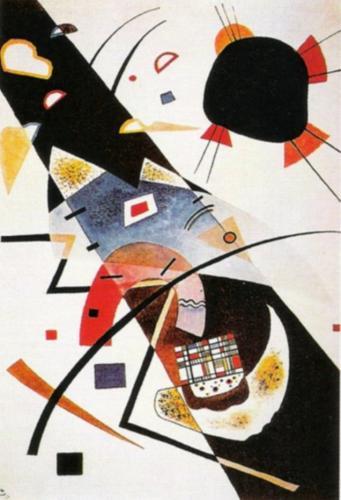 Two Black Spots, 1923 by Wassily Kandinsky
