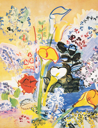 Le Bouquet d'Arums, 1939 by Raoul Dufy