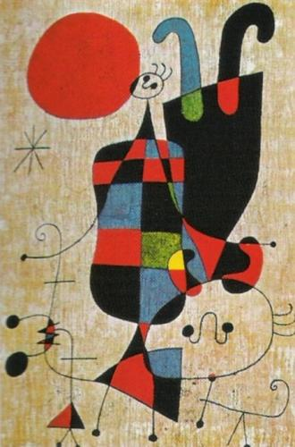 Upside Down Figures Art Print By Joan Miro King Amp Mcgaw