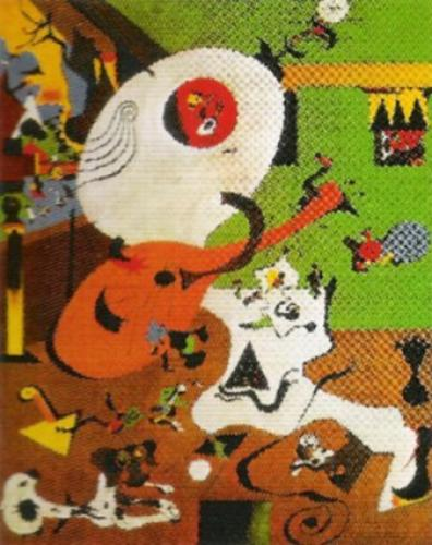 interieur hollandais i 1928 art print by joan miro at