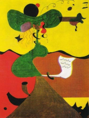 Portrait de Mrs. Mill en 1750 by Joan Miro