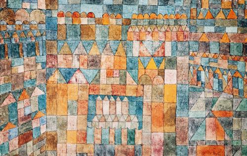 Tempelviertel von Pert, 1928 by Paul Klee
