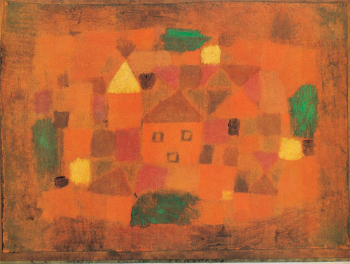 Landscape at Sunset, 1923 by Paul Klee