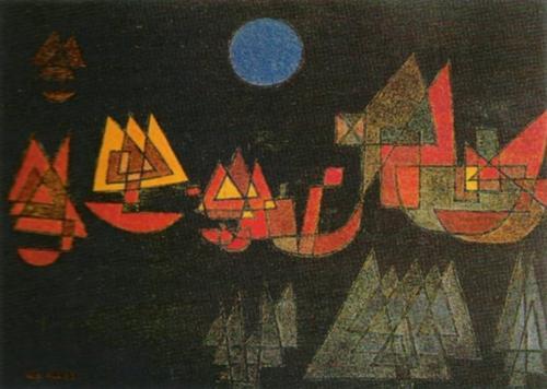 Schiffe im Dunkeln, 1927 by Paul Klee