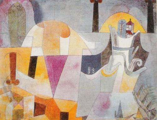 Landscape with Black Columns by Paul Klee