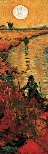 The Red Vineyard at Arles (detail) by Vincent Van Gogh