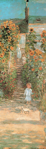 Monet's Garden at Vetheuil (detail) by Claude Monet