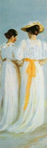 Two Ladies on the Beach (detail) by Michael Peter Ancher