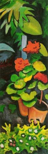 Blumen im Garten (detail) by August Macke
