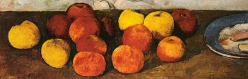 Pommes et Biscuit (detail) by Paul Cezanne