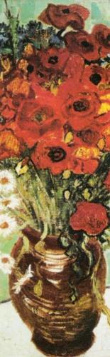 Vase avec marguerite at coquelicots (detail) by Vincent Van Gogh