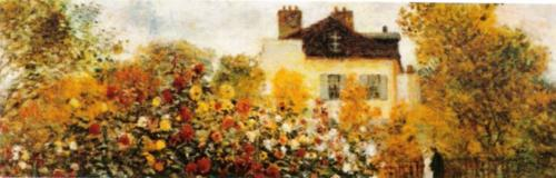 The Artist's Garden in Argenteuil (detail) by Claude Monet