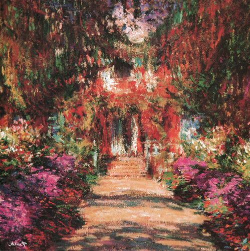 An Avenue in Monet's Garden at Giverny (detail) by Claude Monet
