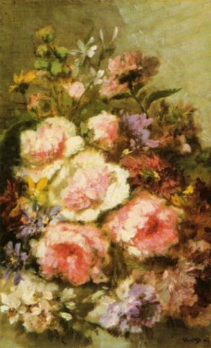 Flowers by Diaz De La Pena
