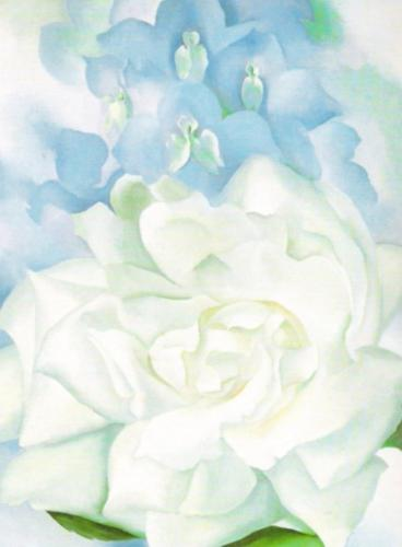 White Rose with Larkspur No. 2 by Georgia O'Keeffe