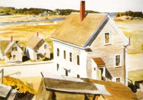 House by Squam River, Gloucester, 1926 by Edward Hopper