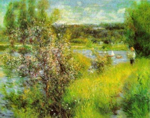 The Seine at Chatou by Pierre Auguste Renoir