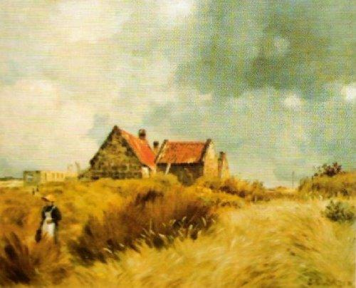 Cottage in the Dunes by Stanislas Henri Cazin