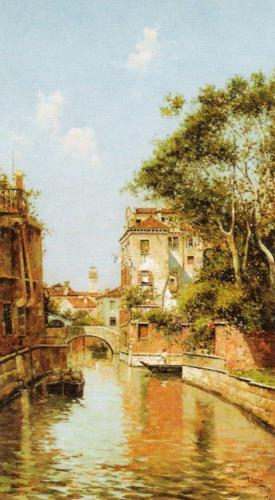 Canal in Venice by Antonio Reyna