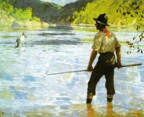 Salmon Fishing, 1927 by Frank Weston Benson