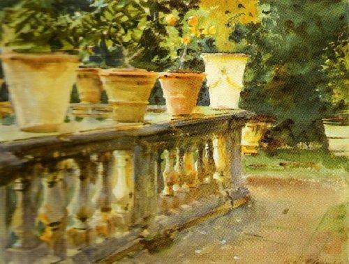 Villa di Marlia, The Balustrade by John Singer Sargent