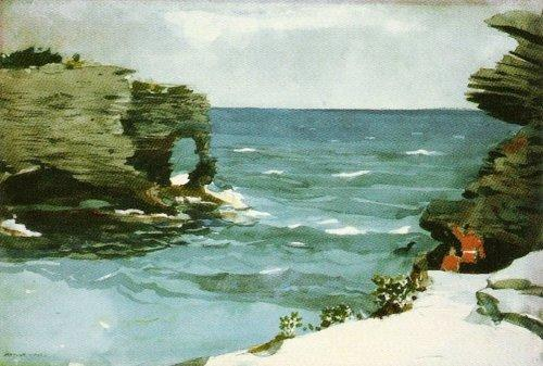 Rocky Shore, Bermuda by Winslow Homer