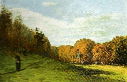 Woodgatherers at the Edge of the Forest by Claude Monet