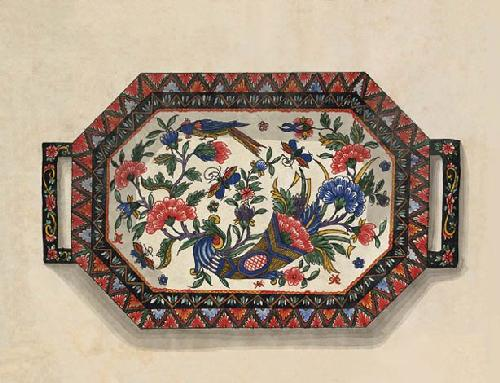 Cornucopia Tray by Anonymous