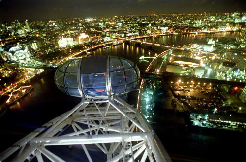London Eye Millennium Wheel by Mirrorpix